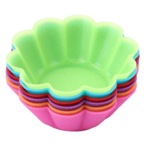 VWH 6Pcs Flower Shaped Silicone Cake Cup Kitchen Tools by VWH (Image #1)