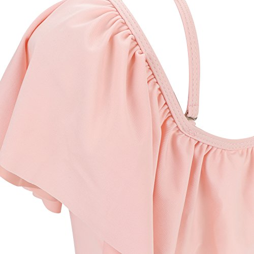 Bagno Donna Costume 1 Rosa Bikini MeOkey Con Openwork Da Scoperte Pezzo Spalle Monokini E6tnOq