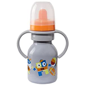 Elegant Baby Stainless Steel Sippy Bottle with Handles, Multi (Discontinued by Manufacturer)