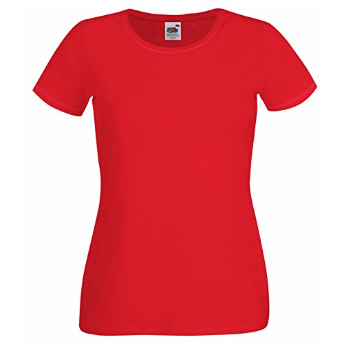 Fruit of the Loom - Camiseta - para mujer Rosso
