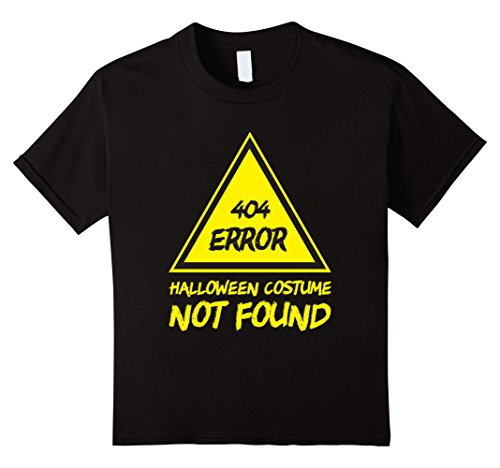 Error Halloween Costume (Kids 404 ERROR - Halloween Costume Not Found - Funny Holiday Tee 12 Black)