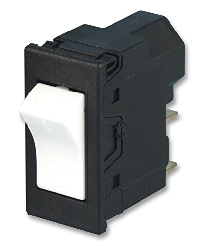 (3251-00.01 - Rocker Switch, DPST, Off-On, White, Panel, 16 A, 230 V RoHS Compliant: Yes (Pack of 2) (3251-00.01))