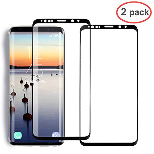 [2 Pack] YRMJK Galaxy Note 9 Tempered Glass Screen Protector, [Curved Dot Matrix] [Force Resistant up to 11 pounds] [3D Full Screen Coverage] Galaxy Note 9 Screen Protector - Lb Case 11