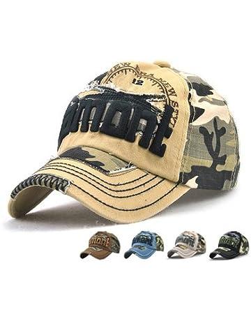 LAOWWO Casual Camo Baseball Cap Cool Cotton Adjustable Military Summer  Outdoor Cap Hat Men Women Sport bd16a991698