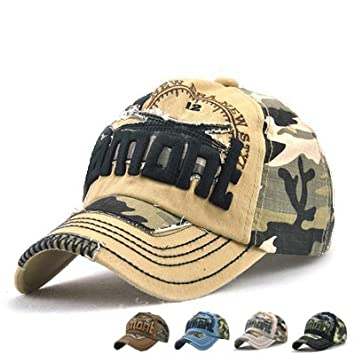 99ece172 LAOWWO Casual Camo Baseball Cap Cotton Adjustable Military Summer Outdoor  Cap Hat Men Women Sport Hiking