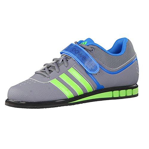 adidas Powerlift 2 Adult Weightlifting Shoe, Grey/Yellow, US8