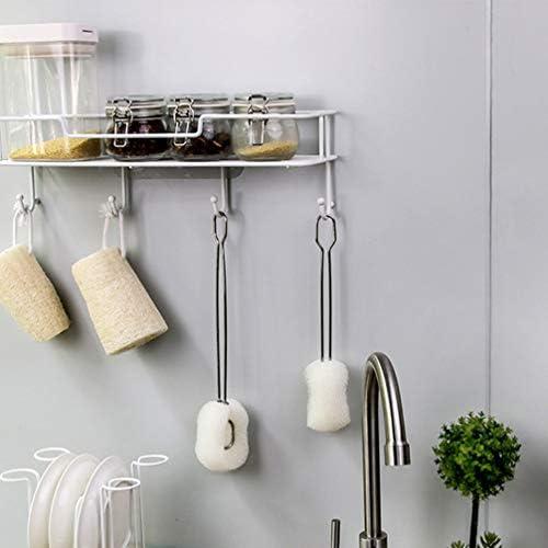 UPKOCH 吸引式キャディラックパンチフリーウォールマウントストレージバスケットハンギングフック排水棚キッチンバスルームオフィス用(ホワイト)