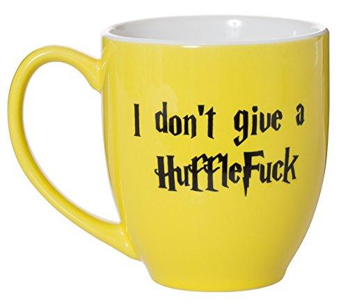 I Don't Give A HuffleFuck - 15oz Bistro Deluxe Double-Sided Coffee Tea Mug (HuffleFuck) by Artisan Owl (Image #2)