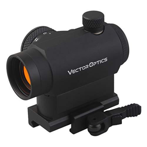 TAC Vector Optics Maverick 1×22 T-1 Tactical Compact Red Dot Sight Scope with Quick Release QD Mount for Rifles Handguns…