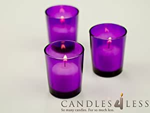 amazoncom candles4less 72 pieces purple glass votive With kitchen colors with white cabinets with red glass votive candle holders