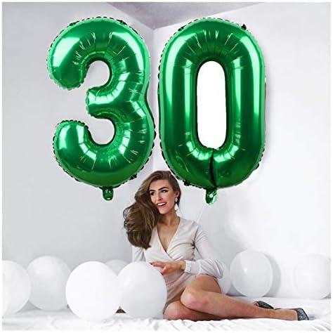 Foil Helium Digital Balloons 50st 40inch Birthday Party Number Folie Ballonnen Party Decorations Aantal Balloon Figuur Heliumballon Goud Zilver Digit Huwelijk Decoratie Supplie