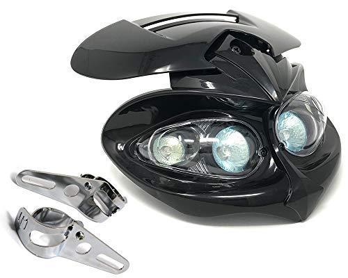 Fari Moto & Supporti per Streetfighter Custom Personalizzazione Moto - Nero Alchemy Parts Ltd