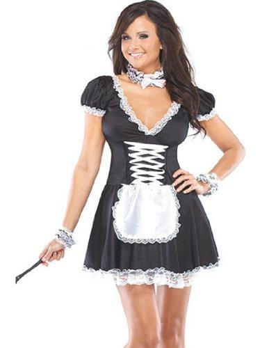 Chamber Maid (Black/White;Medium/Large) (Chambermaid Costume)