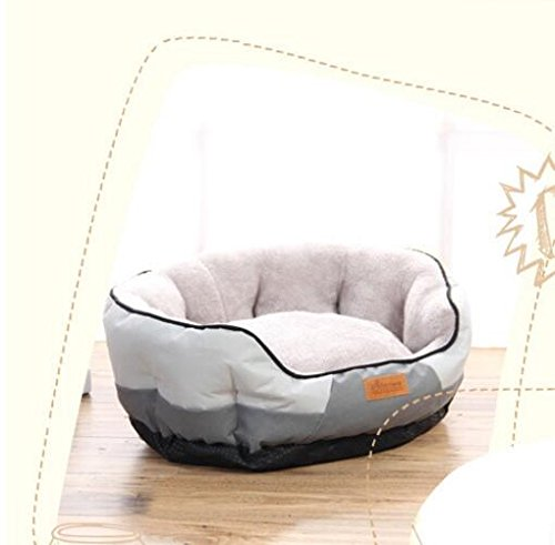 VEA-DE Letto per Animali di Alta qualità, Oval Oval Oval Warm Kennel Cat Nest Pad per Animali Domestici Pet Supplies Grigio af47c0