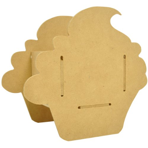 Wilton SB2192 Kaisercraft SB2192 Beyond The Page MDF Cupcake Party Favor, 6-Inch by 4-Inch by 6.5-Inch