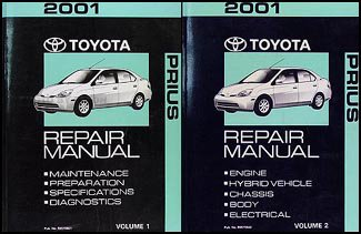 2001 Toyota Prius Repair Shop Manual Set Original (Dealer Prius Toyota)