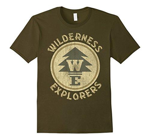 Mens Disney Up Wilderness Explorer Badge Graphic T-Shirt Small Olive - Vintage Explorer