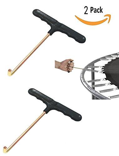 (QDD Trampoline Spring Pull Tool T-Hook 2 Pack Spring Puller)