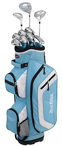 Cheap Tour Edge Bazooka 260 Women's Box Set, Right Hand, Blue/White