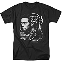 James Dean Men's Rebel Cover T-shirt Black