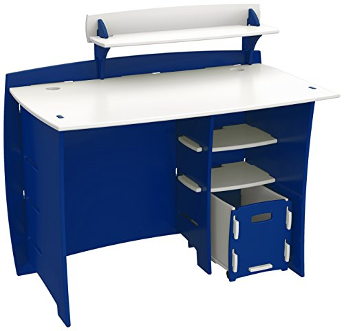 (Legare Kids Desk with File Cart, 43-Inches Wide, Blue and)