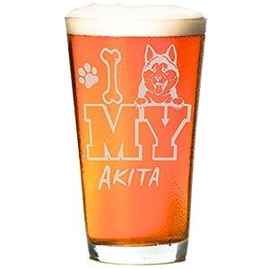 I Love My Golden 16 oz Beer Retriever Pint Glass (1 Glass) 16