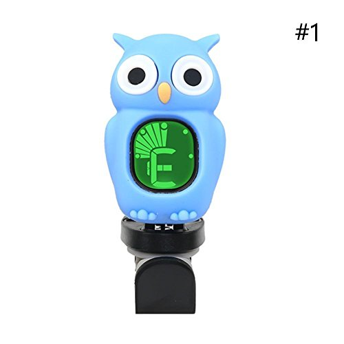 Gracefulvara Guitar/Ukulele/Violin/Bass Cartoon Owl LCD Digital Electronic Tuner (62 Violin Bass)