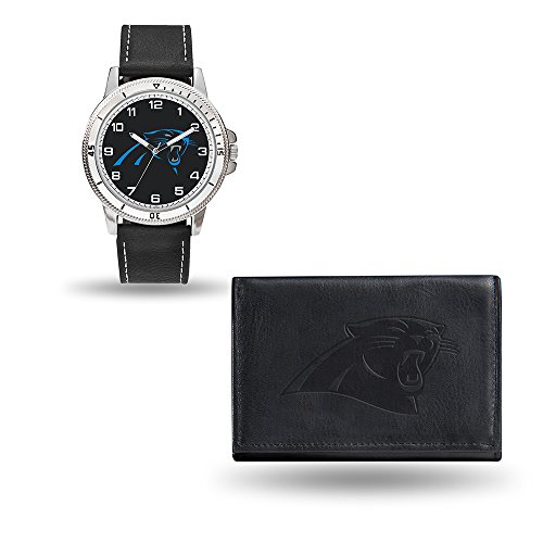 Rico NFL Men's Watch and Wallet Set WTWAWA0801, Carolina Panthers ()