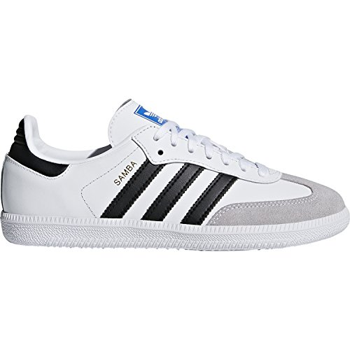 adidas Originals Samba OG J White/Black Leather 3.5 M US Big Kid (Adidas Samba Trainer)