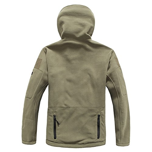 ReFire Gear Men's Warm Military Tactical Sport Fleece Hoodie Jacket, Army Green, X-Large by ReFire Gear (Image #4)