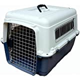 Mr Oreo Iata Approved Plastic Flight Cage for Pets - Blue & White - 20 Inch