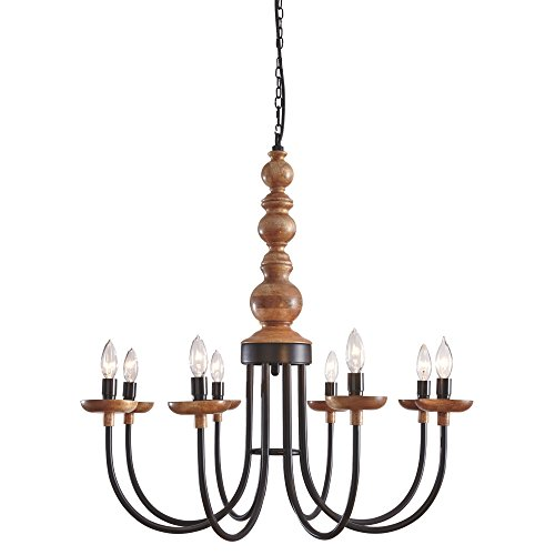 Signature Design by Ashley Fabrice Metal Pendant Light 1 Piece/Black/Natural/Casual -