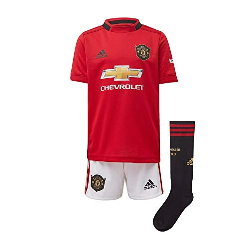 adidas Manchester United FC Official 2019/20 Home Mini Kit - Youth - Red - 18-24 Months ()