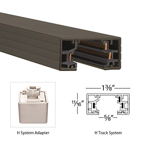 WAC Lighting HLE-DB H Track Live End Connector, Dark Bronze