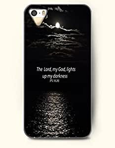 The Lord My God Lights Up My Darkness Ps18:28 - Bible Verses - iPhone 5 / 5s Hard Back Plastic Black