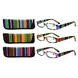 Eyekepper 3 Pack Ladies Reading Glasses for Women Smaller Readers +1.50