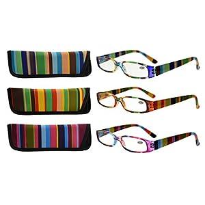 Eyekepper 3 Pack Ladies Reading Glasses for Women Smaller Readers +2.00