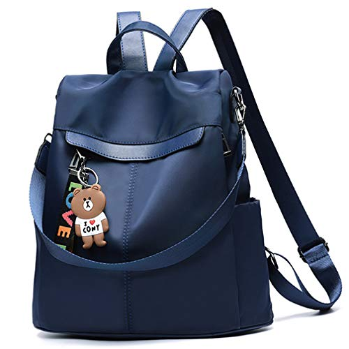 - KURGOOL, Women Backpack Purse Nylon Anti-theft Waterproof Casual Rucksack Lightweight School Shoulder Bag, Blue, One Size