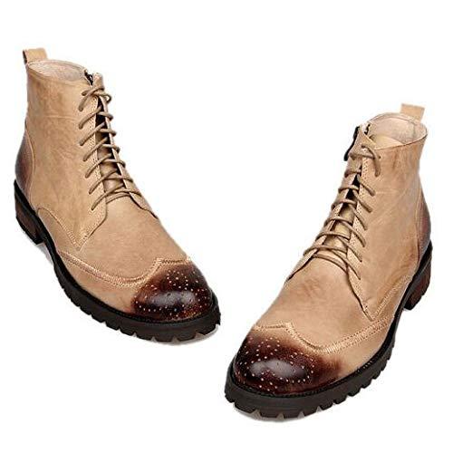 Vintage Stivali Pelle in Apricot in da Uomo Vera Stringati Stivaletti Stivali Lavoro Scarpe da Casual Stivali Pelle Chukka Scarpe IrqFIPw