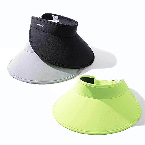 Verde Bluelover Vuoto Assorbimento Sudore Upf50 uv Traspirante Di Anti Confortevole Grande Hat Top Visiera Regolabile fqxZr6fawC