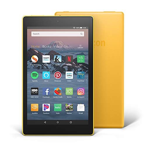 All-New Fire HD 8 Tablet | 8″ HD Display, 32 GB, Canary Yellow – with Special Offers