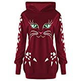 New Sweatshirt Button Tops Blouse Pullover Ladies AfterSo Womens (Red-1, US:4)