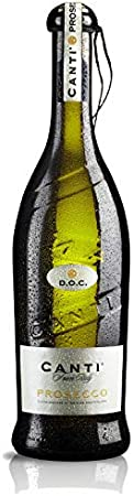 CANTI Prosecco DOC Frizzante Vino Espumoso Italiano Seco - 6 Botellas X 750ml