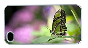 Hipster buy iPhone 4 cover green butterfly PC White for Apple iPhone 4/4S