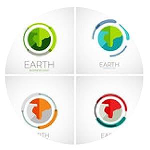 alfombrilla de ratón diseño de logotipo de la empresa Tierra - ronda - 20cm
