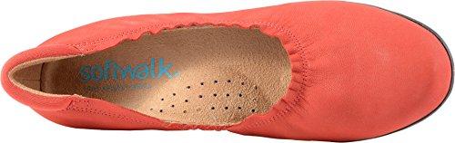 Softwalk Dames Wensen Platte Rode Nubuck