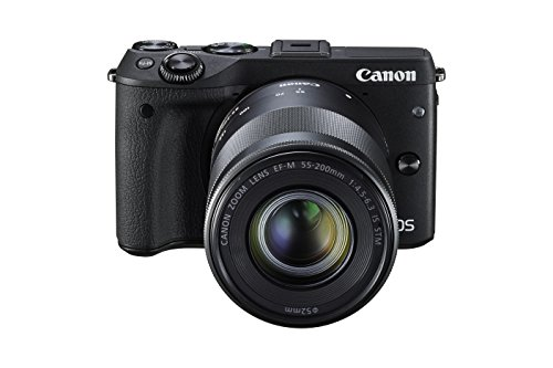 Canon EOS M3 Mirrorless Camera Kit with EF-M 18-55mm Image Stabilization (IS) STM and EF-M 55-200mm Image Stabilization (IS) STM Lenses - Wi-Fi Enabled (Black)
