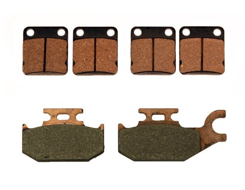 Front /& Rear Brake Pads 2003-2006 Yamaha Kodiak 450 4x4 Auto Semi-Metallic