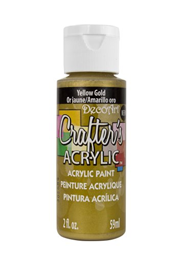DecoArt DCA146-3 Crafter's Acrylic Paint, 2-Ounce, Yellow Gold