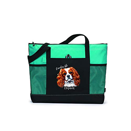 Personalized Cavalier Life Tote Bag with Mesh Pockets